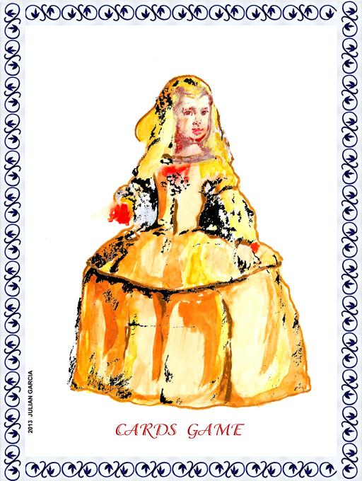 Cards Game, Infanta Margarita #Meninas #Ilustracion