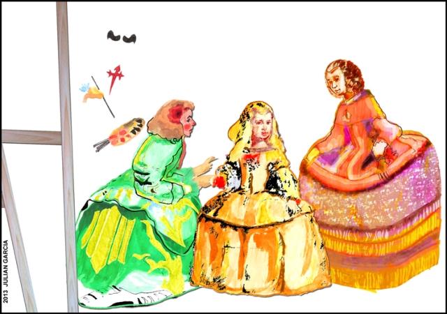 Las Meninas esta temporada eligen vestidos más alegres #Ilustración